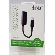 Durata - 2 in 1 Splitter - Lightning connector x 2 Slots Charge en Audio DR-11