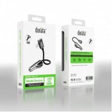 Durata Lightning 2 in 1 Splitter Audio Adapter - Opladen & Muziek Luisteren Tegelijk - Dubbele 8-Pin Lightning Kop Telefoon Aux splitter Voor Apple iPhone 11 / X / XS / XR / XS Max / 8 / 7 / 6 Adapter Jack DR-L07