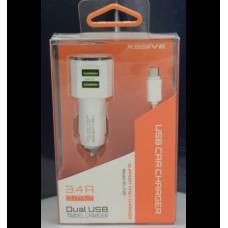 Xssive Duo autolader met micro kabel 3.4A